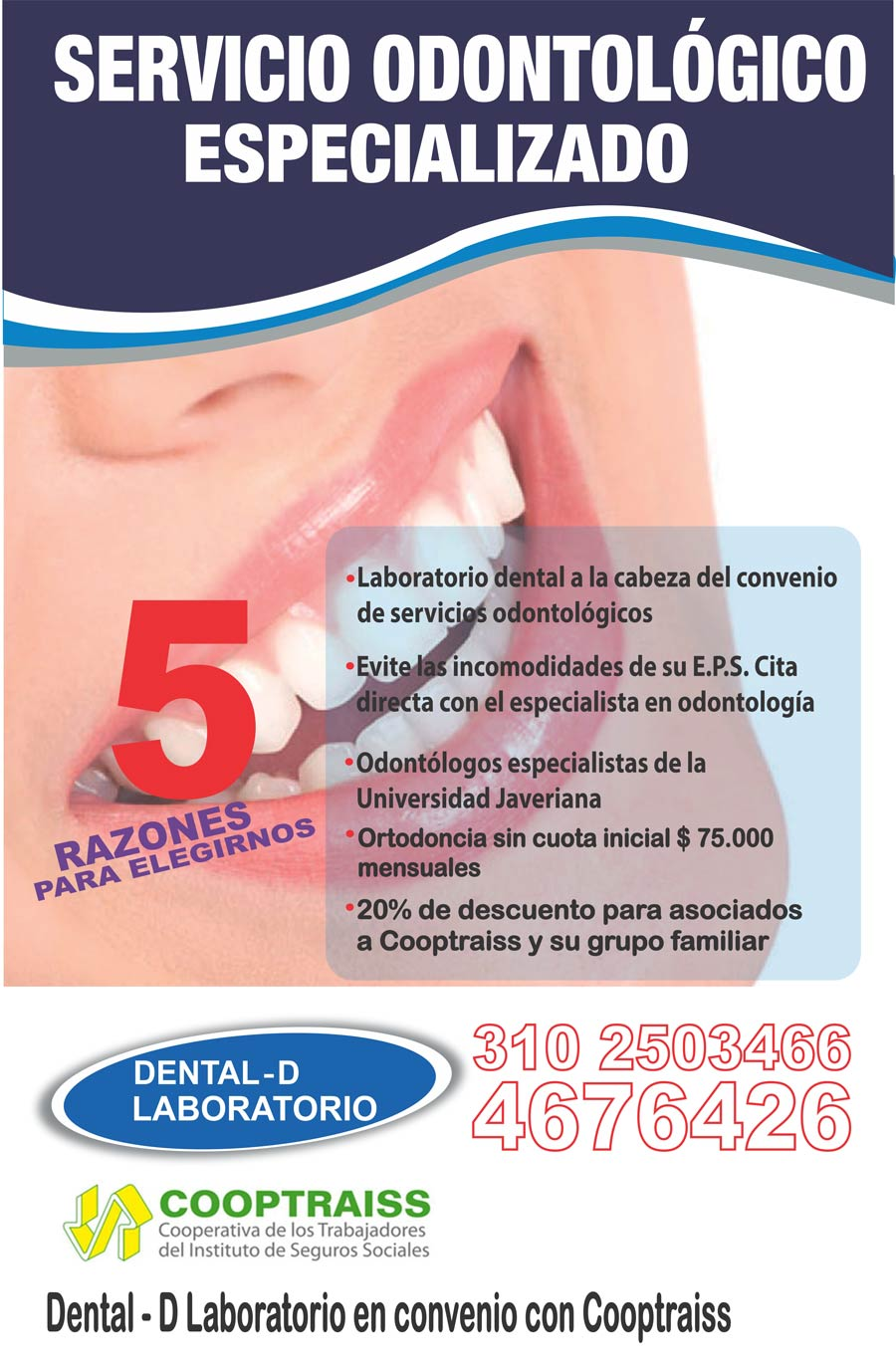 convenio cooptraiss dental