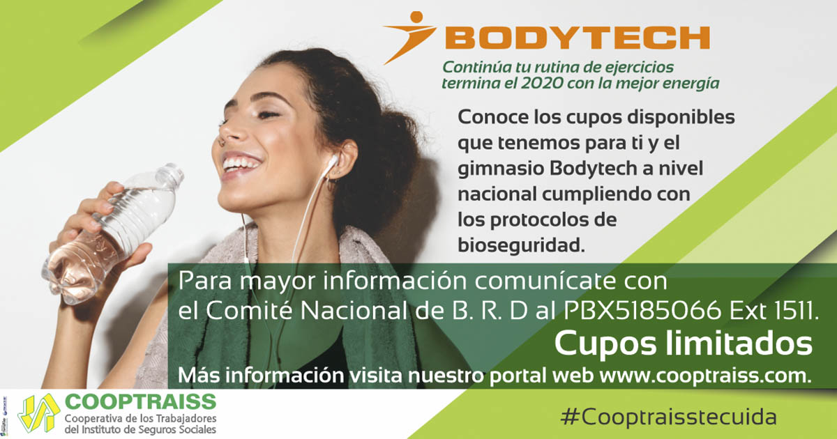 Cupos disponibles bodytech